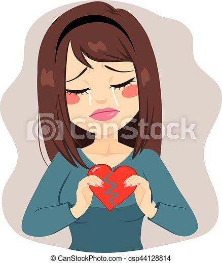 Woman Broken Heart - csp44128814