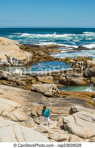 Woman by the ocean - csp23639528