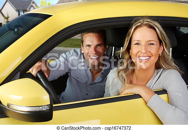 Woman car driver. - csp16747372