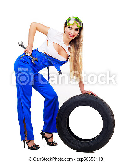 woman car mechanic - csp50658118