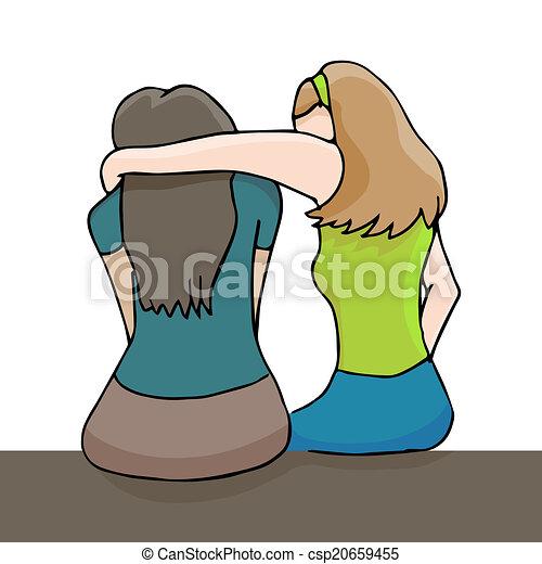 Woman Comforting Depressed Woman - csp20659455