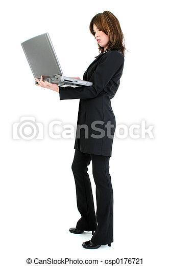 Woman Computer - csp0176721