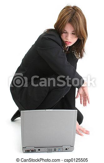 Woman Computer - csp0125505
