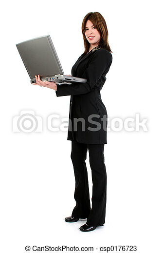 Woman Computer - csp0176723