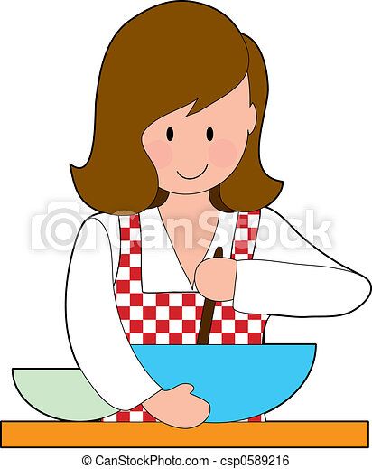 Woman Cooking - csp0589216