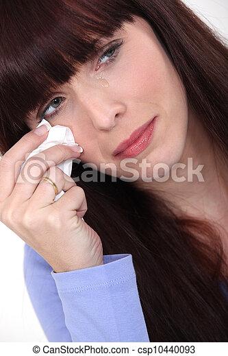 Woman crying - csp10440093