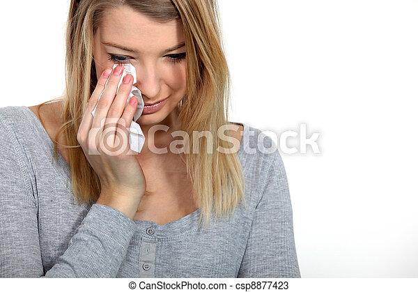 Woman crying - csp8877423