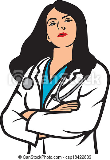 woman doctor vectors search clip art illustration drawings and rh canstockphoto com female dr clipart male and female doctor clipart