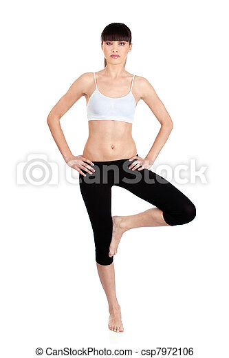 woman doing fitness exercises - csp7972106
