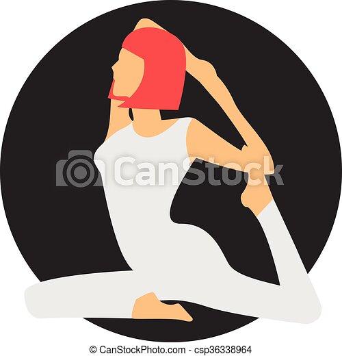Woman Doing Yoga Icon