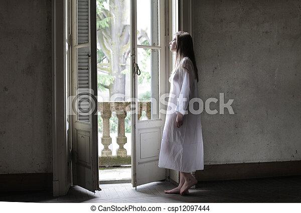 woman dreamer - csp12097444