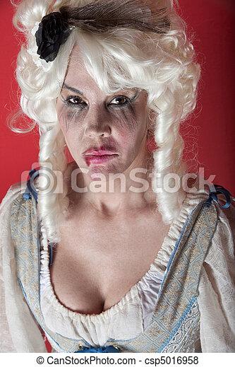 Woman dressed as Marie Antoinette - csp5016958