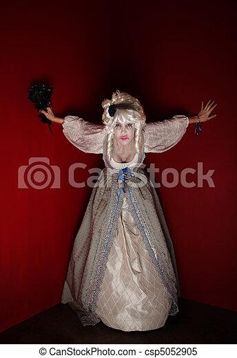 Woman dressed as Marie Antoinette - csp5052905