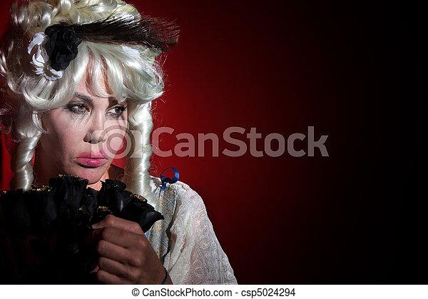 Woman dressed as Marie Antoinette - csp5024294