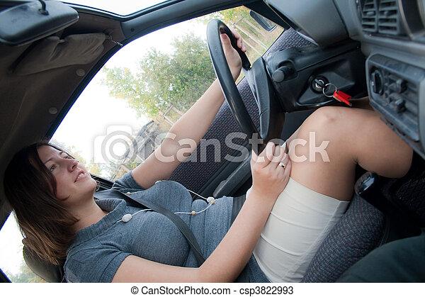 Mini Skirt In Car