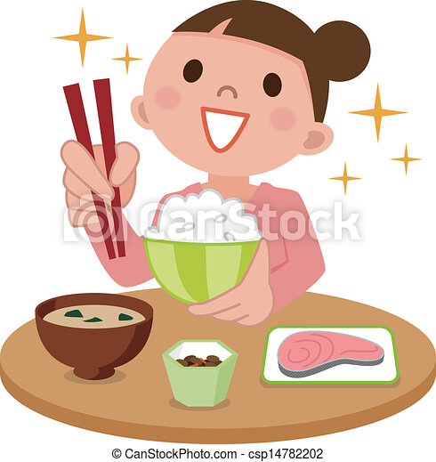 Woman eating delicious meal - csp14782202