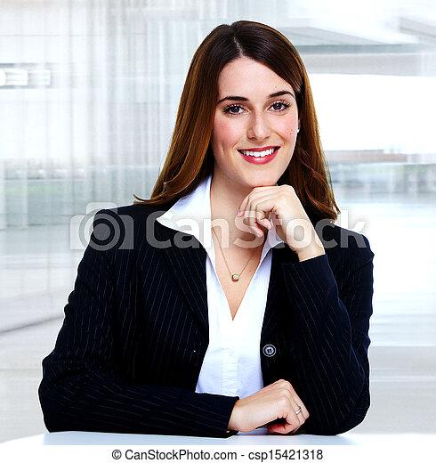 Mujer de negocios. - csp15421318