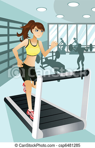 Woman exercise in gym - csp6481285