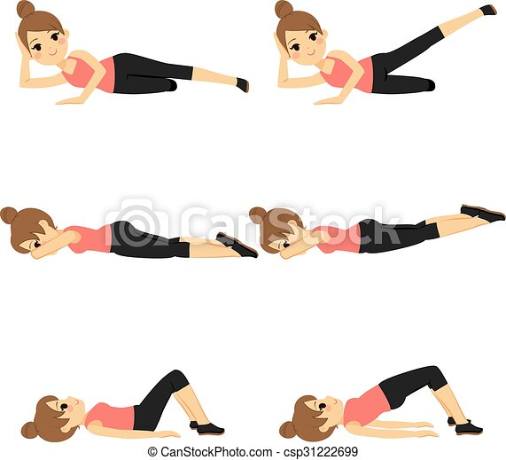 Woman Exercising Fitness - csp31222699