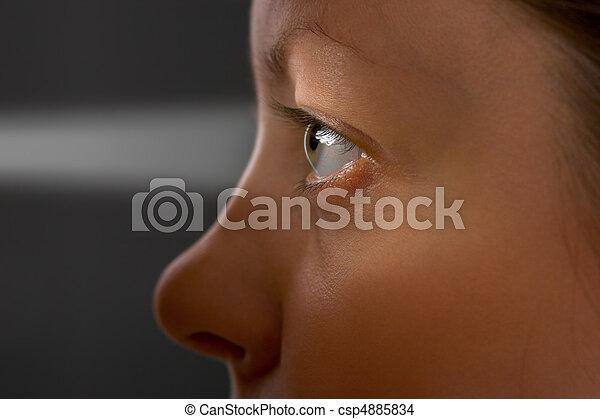 Woman eye and light - csp4885834