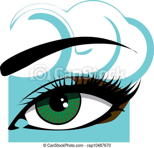 Woman eye illustration - csp10487670