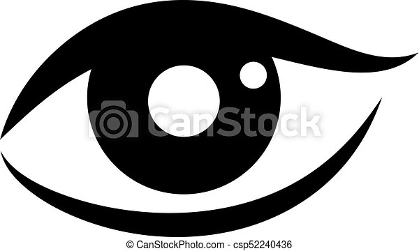 woman eye vector icon on white background rh canstockphoto com vector eye centre vector eyebrows