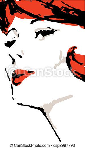 Woman Face - csp2997798