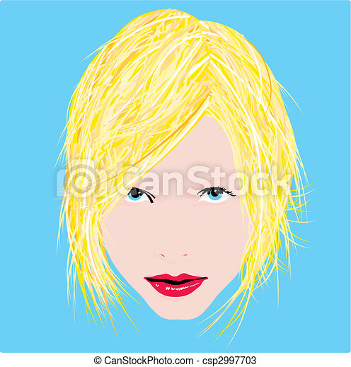 Woman face eyes vector illustration - csp2997703