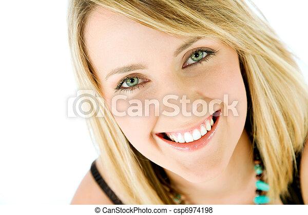 woman face smiling - csp6974198