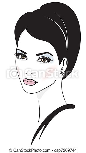 woman face vector illustration - csp7209744