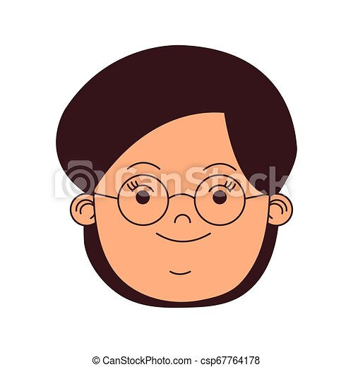 Woman face with glasses - csp67764178