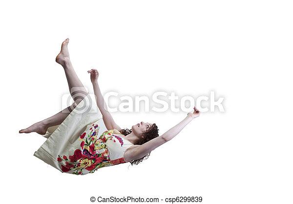 Woman Falling Through the Sky - csp6299839