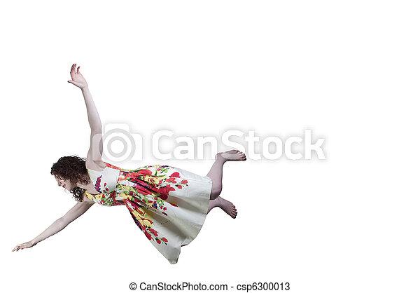 Woman Falling Through the Sky - csp6300013