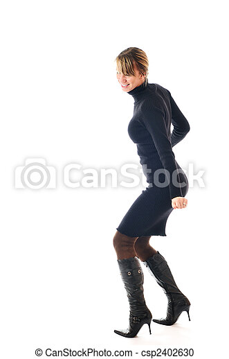 woman fashion isolated - csp2402630