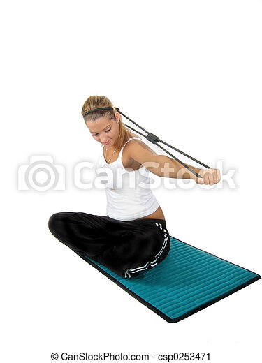 Woman Fitness Weights - csp0253471