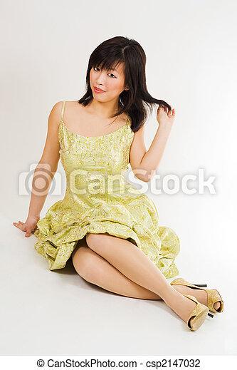 woman flirting - csp2147032