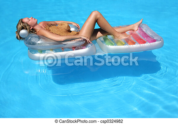 pool float on naked