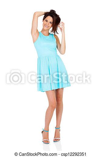 woman full length portrait - csp12292351