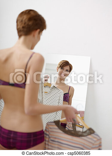 woman getting dressed young adult caucasian female