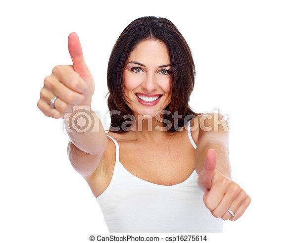 woman., giovane, felice - csp16275614
