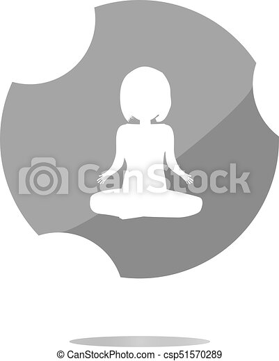 woman glossy web icon on white background - csp51570289