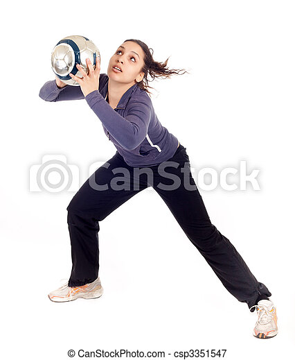 woman goalkeeper - csp3351547