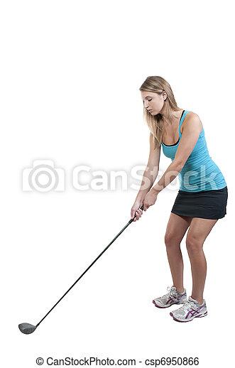 Woman Golfer - csp6950866