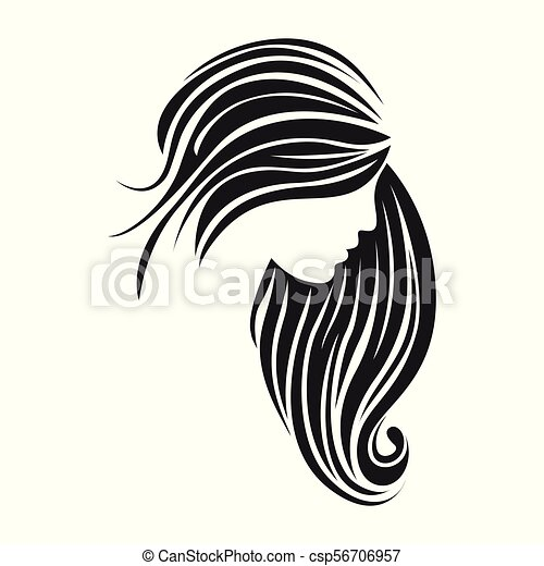 Vector Illustration Of Woman Hair Style Silhouette Canstock