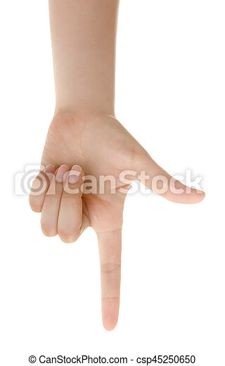 woman hand pointing up with index finger or touching screen back