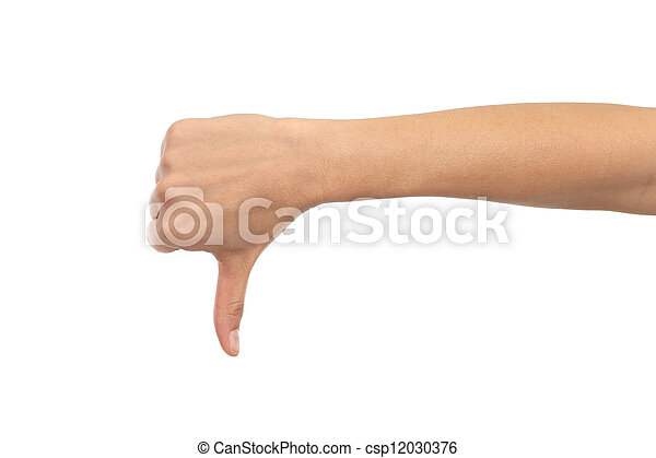 Woman hand thumb down - csp12030376