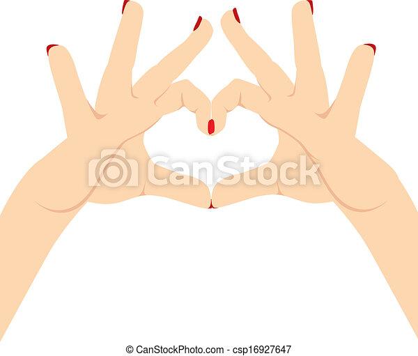 Woman Hands Love Heart - csp16927647