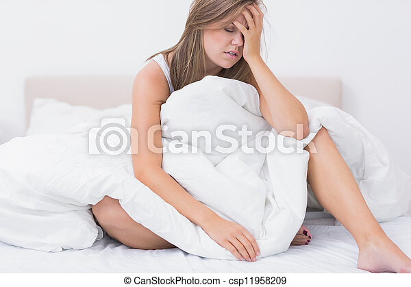 Woman has just waking up - csp11958209