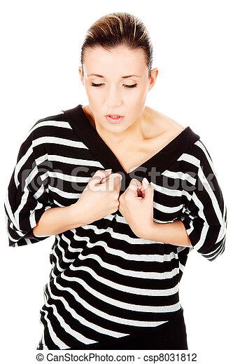 woman having lunge pain - csp8031812