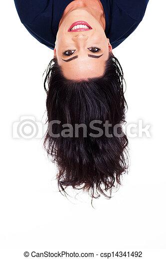 woman head upside down - csp14341492